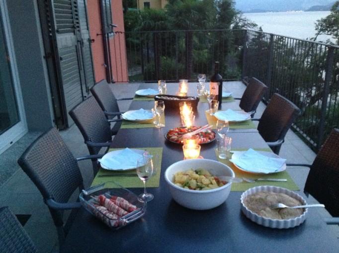 Abendessen im August